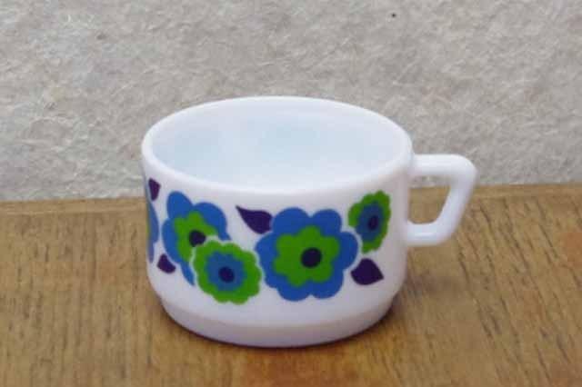 アルコパル デミタスカップ  (ブルー花柄)