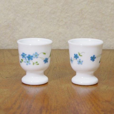 アルコパル エッグ スタンド 水色花柄(2個セット)