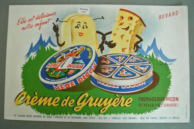 フランス ブロカント ビュバー(MERE PICON チーズ)