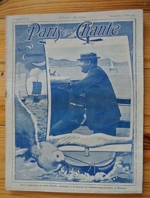 """ビンテージ本 """"Paris qui Chante""""  67 号、  歌楽譜 雑誌(1904年)"""