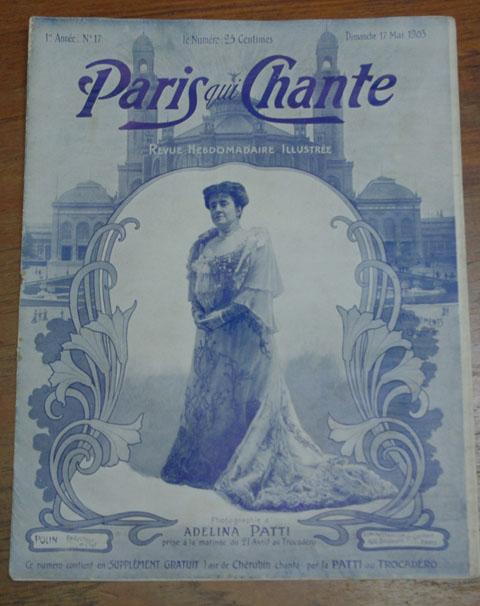 """ビンテージ本 """"Paris qui Chante""""  17号、  歌楽譜 雑誌(1903年)"""