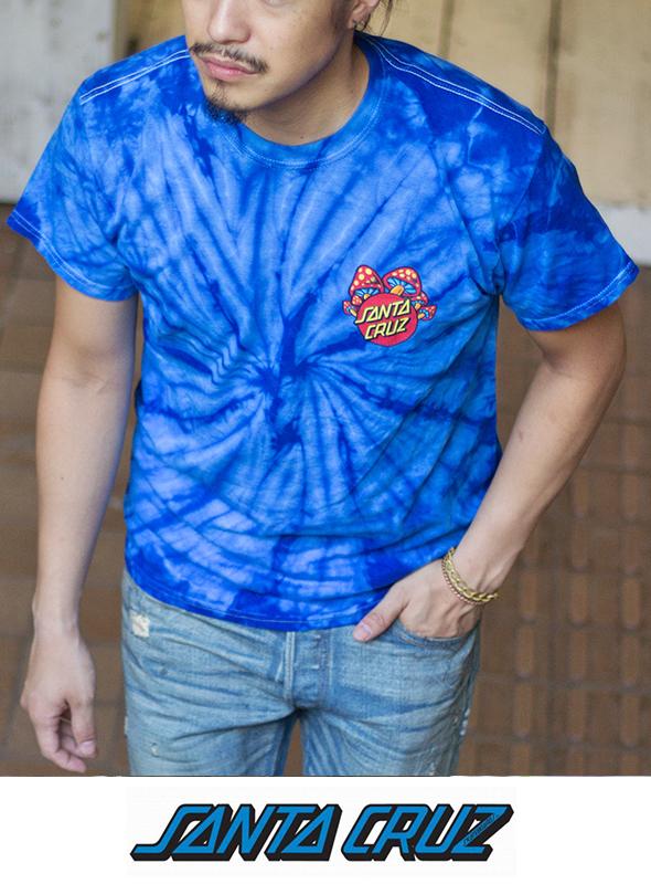SANTA CRUZ サンタクルーズ マッシュルーム Shroom Dot Tie-Dye S/S Tシャツ