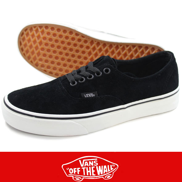 VANS バンズ Authentic Decon PIG SUEDE BLK/BLANC DE BLANC