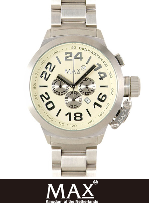 MAX XL WATCH  5-MAX 459 WHT/SLV