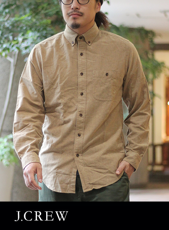 J.CREW ジェイクルー ELBOE PATCH SHIRTS BEIGE