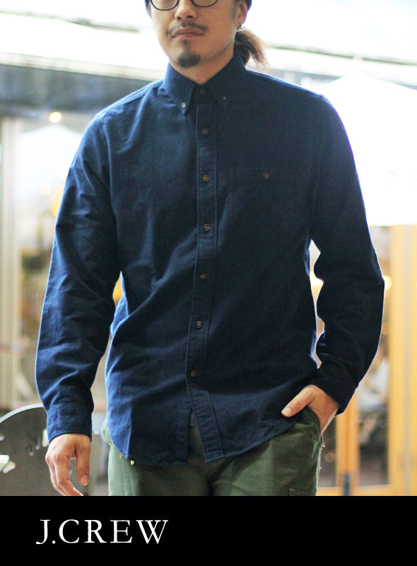 J.CREW ジェイクルー ELBOE PATCH SHIRTS NAVY