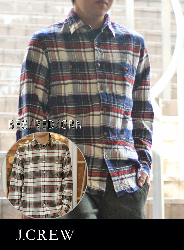 J.CREW ジェイクルー SLIM LIGHT NEL CHECK SHIRT
