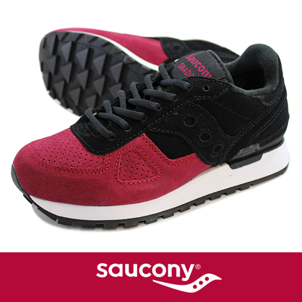 Saucony サッカニー Shadow Original  SUEDE BLK/RED S70257-4