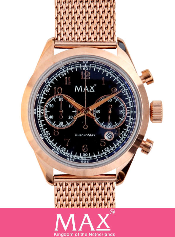 MAX XL WATCH 5-MAX 666 PINK GOLD/BLACK