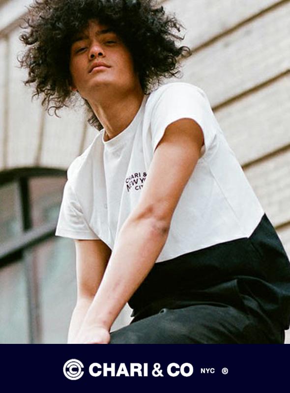 CHARI&CO チャリアンドコー  SLOPE BITONE Tシャツ