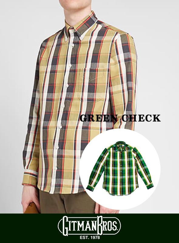 【Gitman Vintage】 ギットマンヴィンテージ ツイル チェックシャツ
