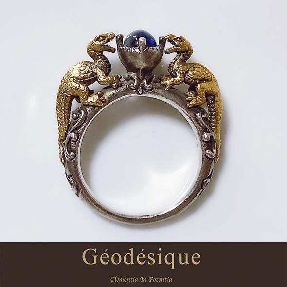 Geodesique ジィオデシック 火竜アイオライト リング