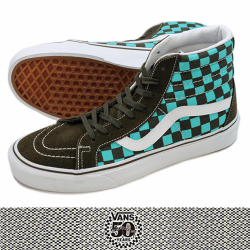VANS バンズSK8-Hi REISSUE (50th) BLK/EME/CHECKER