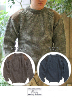 Oldderby Knitwear オールドダービーニットウェア CREW NECK コマンドセーター