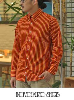 INDIVIDUALIZED SHIRTS インディヴィジュアライズドシャツ College Stripe  STANDARD SHIRT
