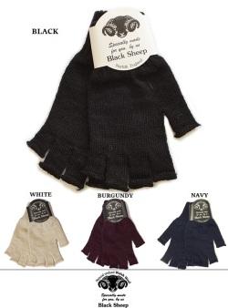 BLACK SHEEP ブラックシープ フィンガーレスニットグローブ#3 手袋  4カラー