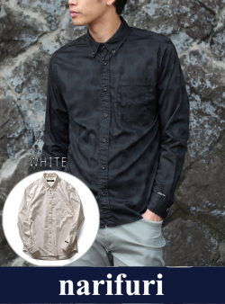 narifuri ナリフリ  Shadow dot B.D shirt(NF758)