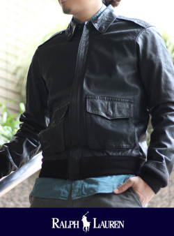 POLO RALPH LAUREN ポロ ラルフローレン A-2 LEATHER JACKET
