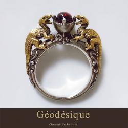 Geodesique ジィオデシック 火竜ガーネット リング