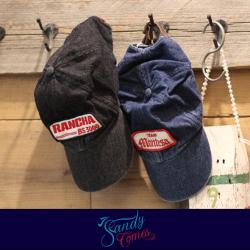 【SandyComes】サンディカムズ Washed denim CAP