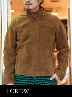 【J.CREW】ジェイクルー  SUEDED SINGLE JACKET CAMEL