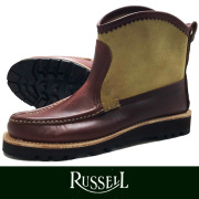 RUSSELL MOCCASIN ラッセルモカシン KNOCK A BOUT BROWN/CAMEL (paper別注)