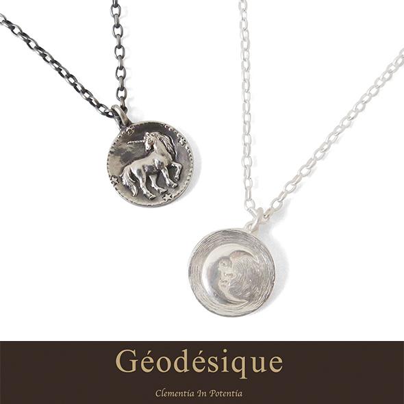 Geodesique ジィオデシック 月のコインネックレス
