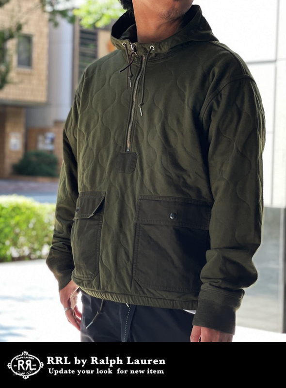 RRL ダブルアールエル QUILTING POPOVER HOODIE