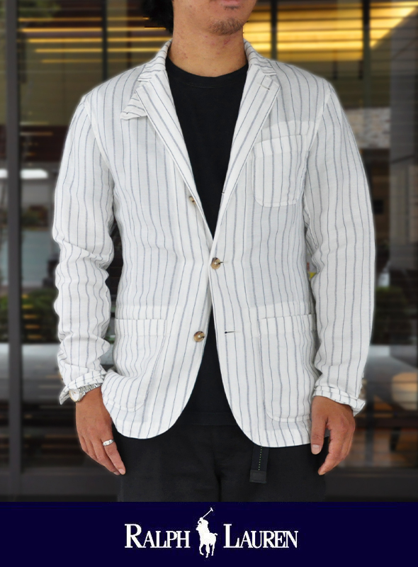 POLO RALPH LAUREN ポロ ラルフローレン Linen striped jacket