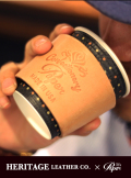【HERITAGE LEATHER×paper】CUP SLEEVE