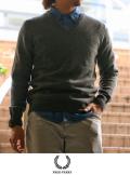 FRED PERRY フレッドペリー ラムウール V-Neck Sweater(K4101)