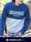 CHARI&CO チャリアンドコー BI TONE CREW KNIT  LENNON TEXT