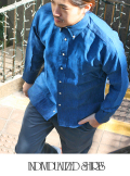 INDIVIDUALIZED SHIRTS インディヴィジュアライズドシャツ  LINEN STANDARD FIT BD SHIRT NAVY