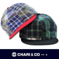 CHARI&CO チャリアンドコー  SCRIPT LOGO SHORT BRIM PATCH WORK CAP【全2色】