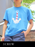 J.CREW ジェイクルーSLOW ANCHOR S/S TEE BLUE
