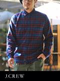 J.CREW ジェイクルー ライトネル チェックシャツ NVY/RED/GRN