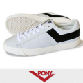 PONY ポニー TOPSTAR LEATHER WHITE/BLACK
