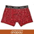 anapau アナパウ ボクサーパンツ バンダナ柄 RED P-1702