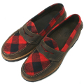G.H.BASS WEEJUNS P BUFFALO LUG RED/PLAID