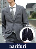 narifuri ナリフリ  Chalk stripe tailored jacket(NF861)