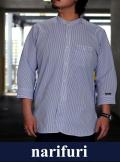narifuri ナリフリ Band collar Three-quarter sleeve shirtバンドカラー七分袖シャツ(NF4007)