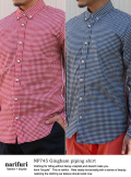 Gingham piping shirt ギンガムパイピングシャツ(NF745)