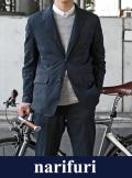【narifuri】 ナリフリ Seersucker pocketable jacket(NF913)