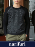 narifuri ナリフリ Jacquard camouflage gater knit (NF990)