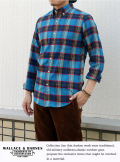 wallace B.Dチェックシャツ