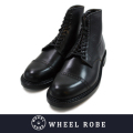 WHEEL ROBE ウィールローブ CAP TOE LACE UP BLACK