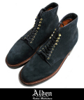 Alden オールデン D4812H SUEDE  PLAIN TOE BOOT DARK NVY