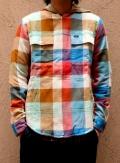RVCA  Double Doo Shirts ブロックチェックフードシャツ