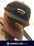 CHARI&CO チャリアンドコー SUEDE 6PANEL CAP OVERLAP LOGO