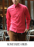 INDIVIDUALIZED SHIRTS インディヴィジュアライズドシャツ POLKA DOT STANDARD FIT BD SHIRT RED